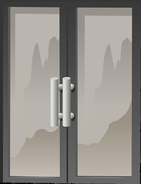 Nowoczesne i piękne drzwi ze szkła